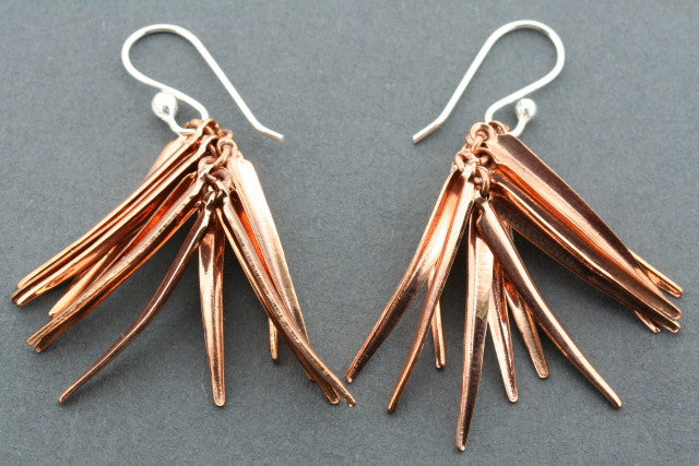 agauave copper earrings
