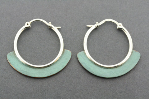 copper patina hoop
