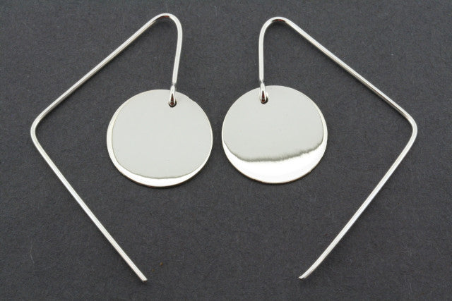 circle disc earring