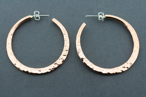flattened battered hoop - large - copper