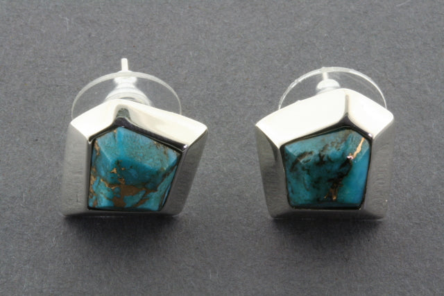 turquoise with bronze star stud