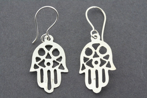 hand of fatima small drop earring