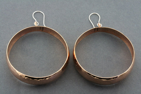 wide battered copper hoops