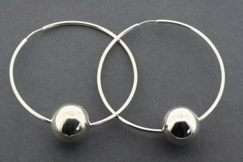 Large hoop with ball earrings