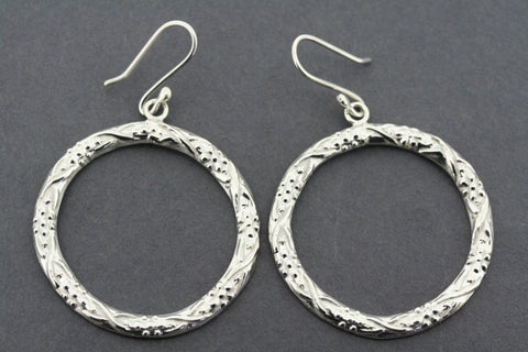 floral etched hoops