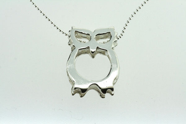 owl pendant on 55cm ball chain