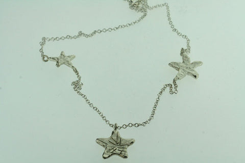 3 x star necklace