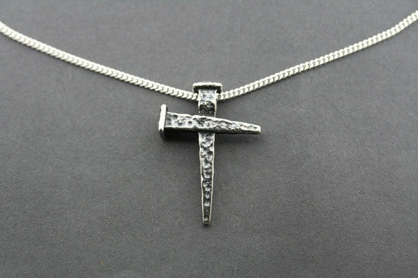 nail cross pendant on 60cm link chain