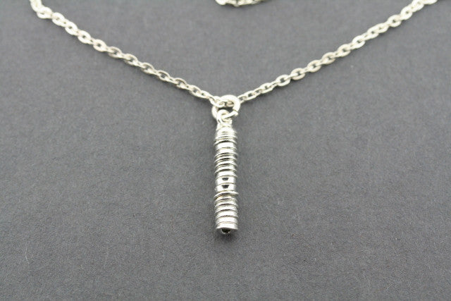 silver spiral pendant necklace
