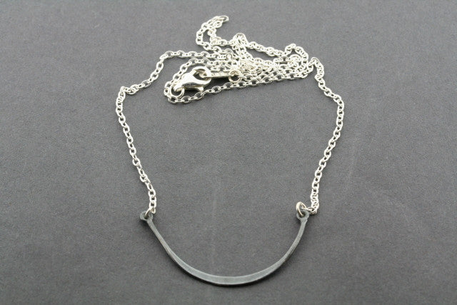oxidized silver smile necklace