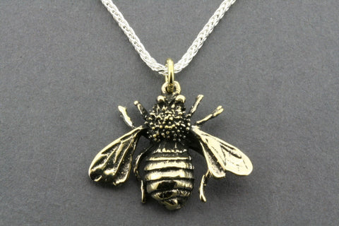 brass bee pendant on 80cm espiga chain