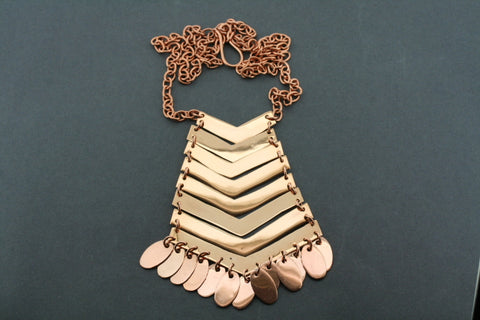 8 piece & tassel copper necklace