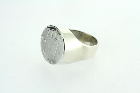 crown coin signet ring