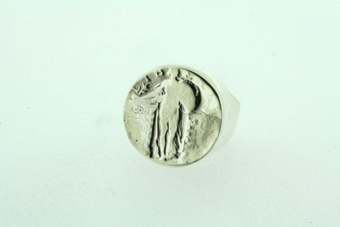 liberty coin signet ring