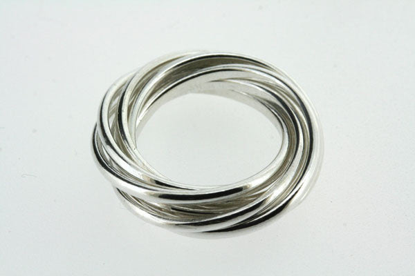 Seven Band Sterling Silver Russian Wedding Ring