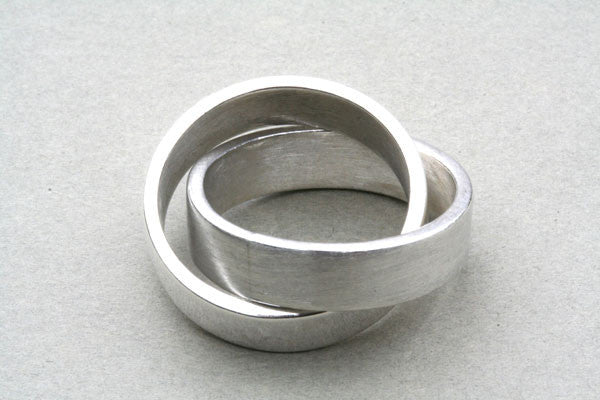 matte & polished russian wedding ring