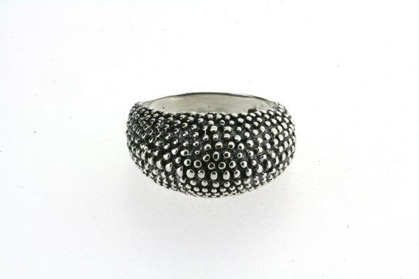 beaded texture bubble ring