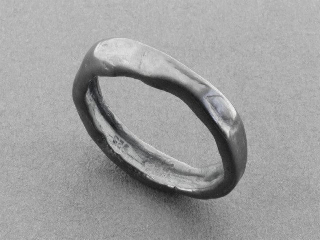 Driftwood band - oxidized silver