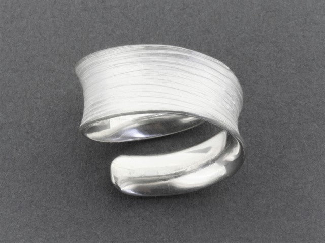 concave spiral band - sterling silver