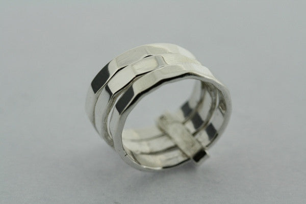 3 in one faceted ring
