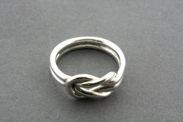 Eternity knot ring - sterling silver