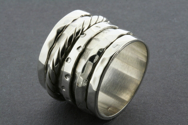 rope multi spinner ring