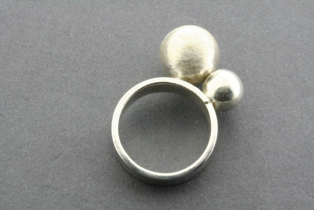 scratched & polished line ball ring