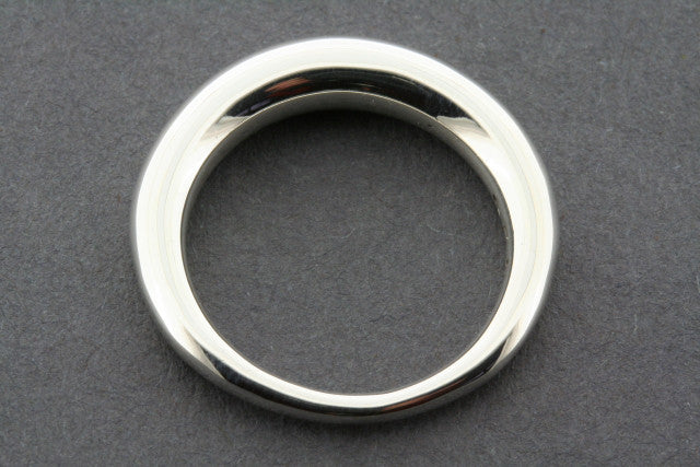 tapering tubular ring - sterling silver