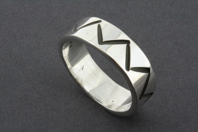 etched zigzag band