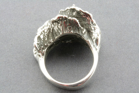 oxidized coral ring