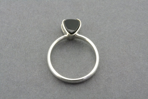 stone heart ring - black onyx