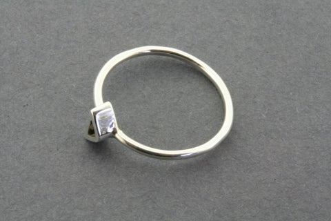 fine ring with triangle