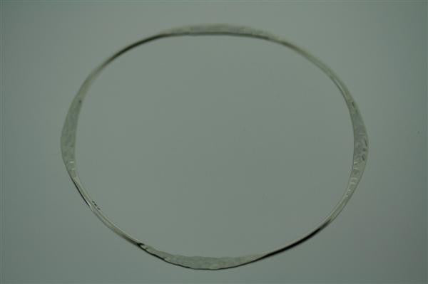 narrow flattened bangle - battered