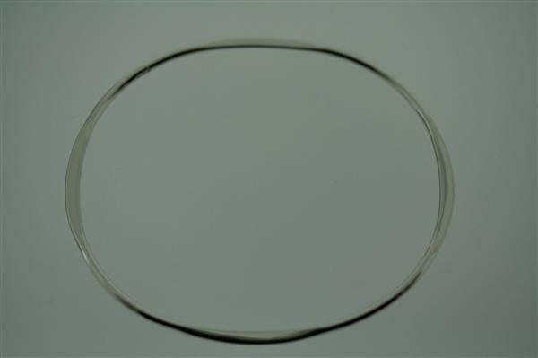 narrow flattened oval bangle - oval