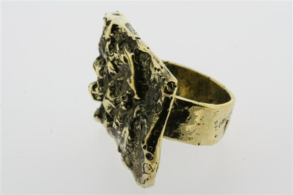 nugget ring - brass