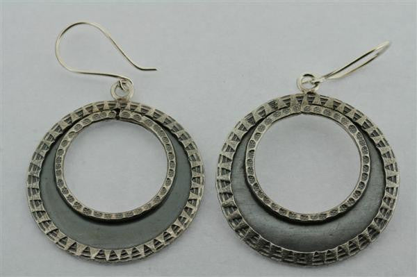 ox. industrial hoop earring