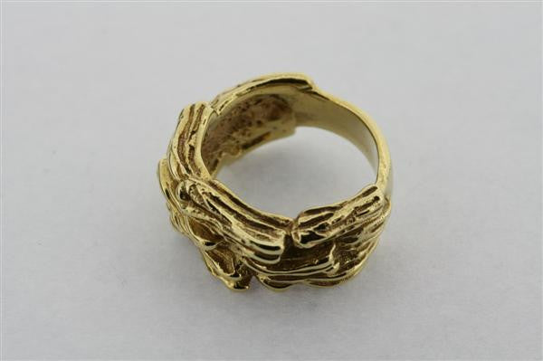 paperbark ring - brass