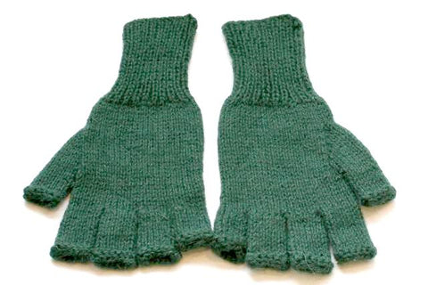 alpaca hobo gloves - forest green