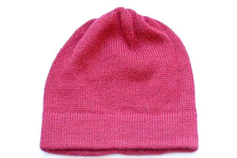 Alpaca Hand Knitted Beanie in Red