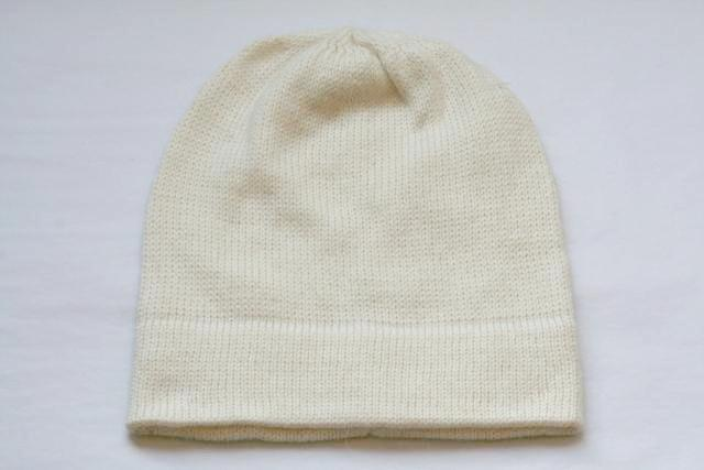 Alpaca Hand Knitted Beanie in Ivory