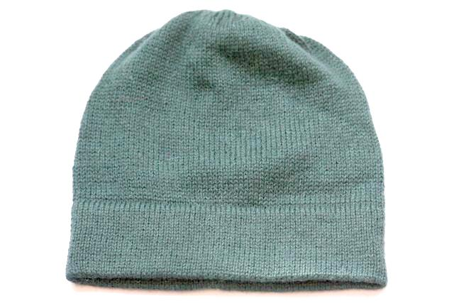Alpaca Hand Knitted Beanie in Forest Green