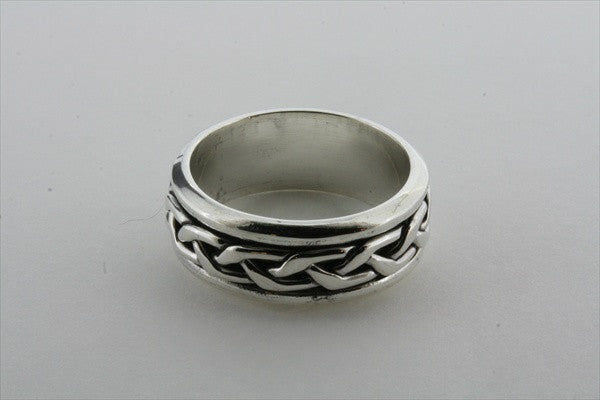 plaited spinner ring