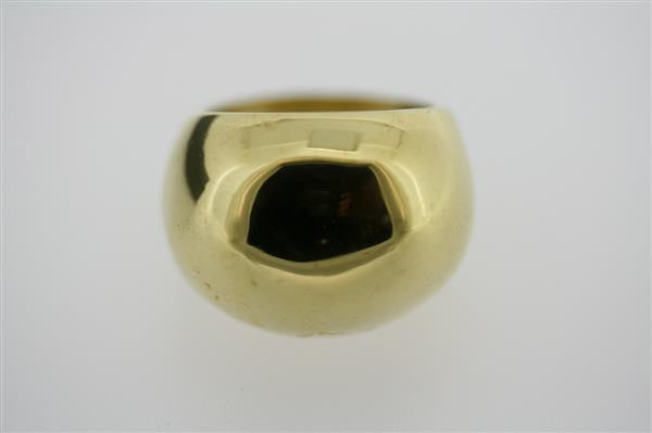 polished brass bubble ring