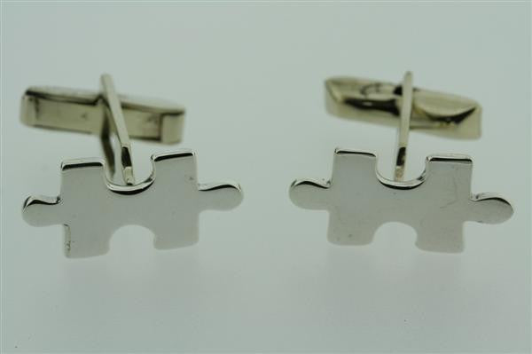 Sterling Silver Puzzle Piece Cufflinks
