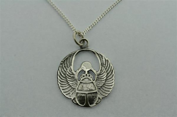 scarab pendant on 60cm link chain