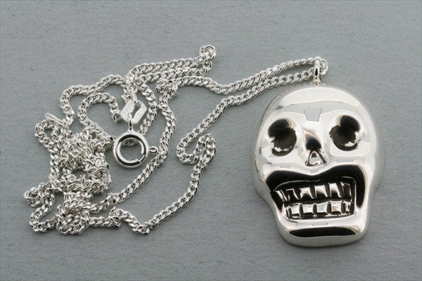 skull mask pendant on 55cm link chain