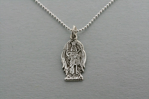 small angel pendant on 55cm ball chain