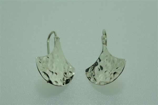 small battered shield earring