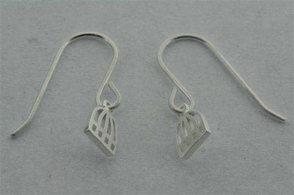 small cage hook earring