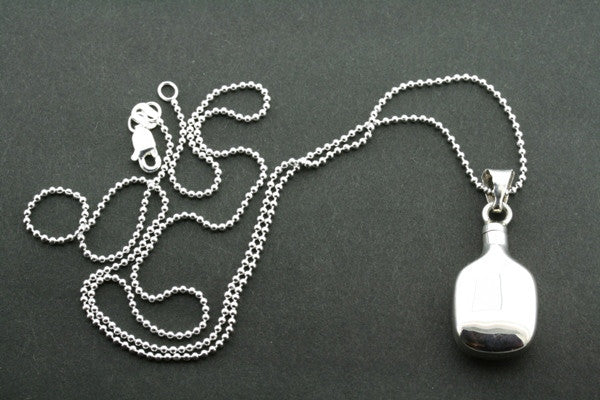 small curved perfume bottle pendant on 45cm ball chain